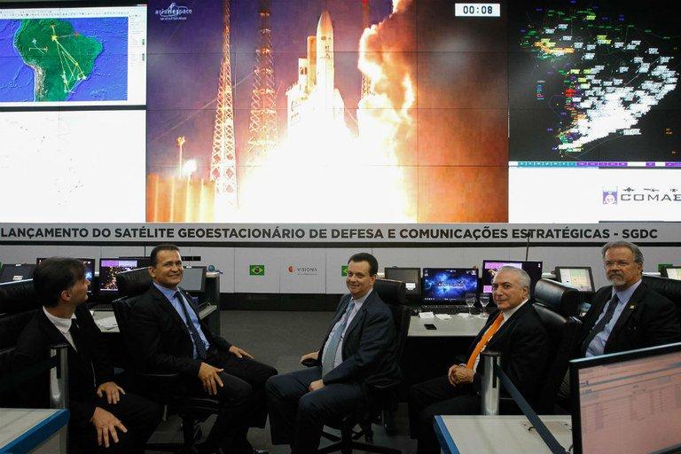 Lançamento do Satélite Geoestacionário de Defesa e Comunicações Estratégicas - Foto: Beto Barata/PR